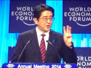Shinzo Abe en Davos