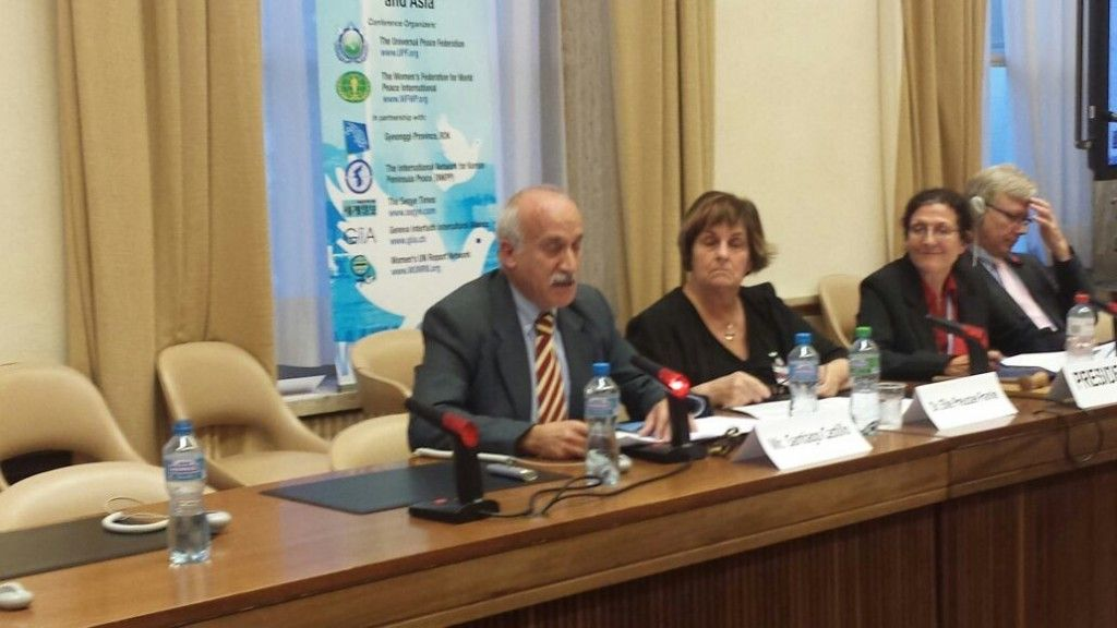 Santiago Castillo durante su ponencia en la sede de Naciones Unidas, en Ginebra